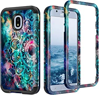 Lamcasefor SamsungGalaxyJ32018Case(NotFitJ32017) Samsung Galaxy J3/J3 (2018)/J3 V 3rd gen/J3 3rd gen/Amp Prime 3/J3 Star Case Shockproof High Impact Bumper Protective Cover, Mandala/Galaxy
