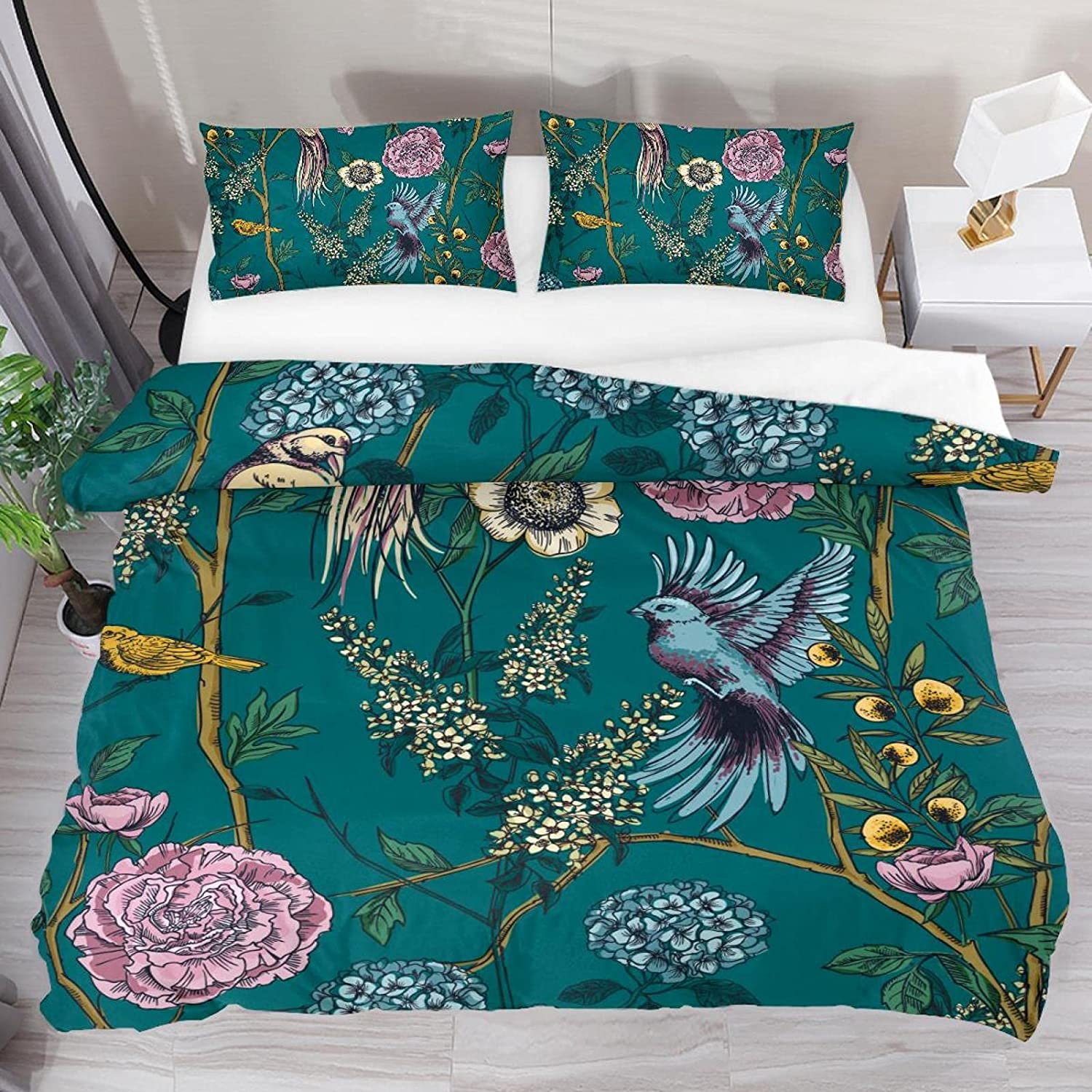 Twin Duvet Covers Max 55% OFF Set with Closure Zipper Retro Soft New Shipping Free Breathable