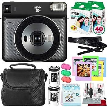 Fujifilm instax Square SQ6 Instant Film Camera (Graphite Grey) + 40 Sheet Square Instant Film + Deluxe Bundle (USA Warranty)