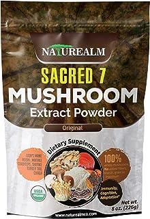 SACRED 7 Mushroom Extract Powder - USDA Organic - Lion's Mane, Reishi, Cordyceps, Maitake, Shiitake, Turkey Tail, Chaga - ...