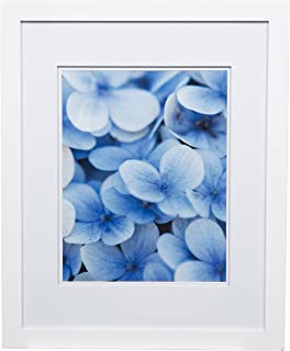 Gallery Solutions Flat White Wall Picture Photo 16X20 DOUBLE FRAME, MATTED TO 11X14, 16