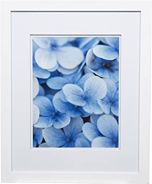 """Snap 16x20 Flat Double Mat for 11x14 Photo, Wall Mount Picture Frame, 11"""" x 14"""", White"""
