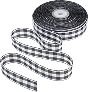 Tatuo 50 Yards Gingham Ribbon Wide Ribbon Taffeta Plaid Ribbon