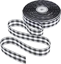 Tatuo 50 Yards Gingham Ribbon Wide Ribbon Taffeta Plaid Ribbon