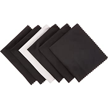 AmazonBasics Microfiber Cleaning Cloth for Electronics - Pack of 6, 6 x 7 Inches