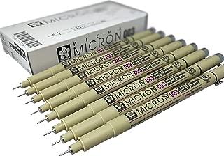 Sakura Pigma Micron pen 003 black felt tip artist drawing pens - 8 pen set