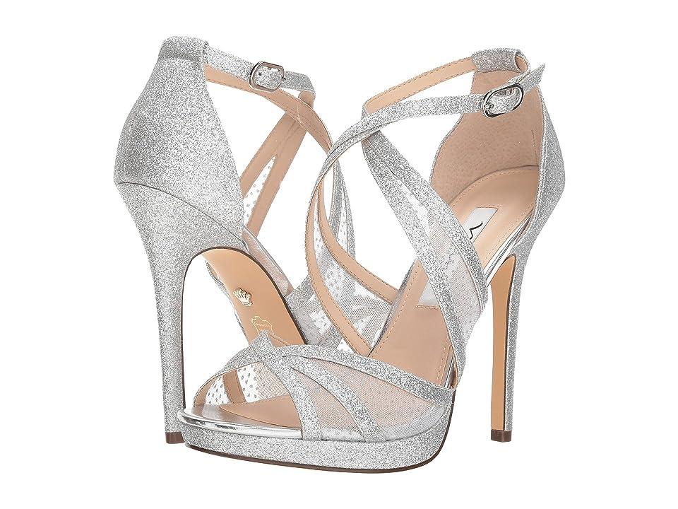 Nina Fenna (Silver Baby Glitter/Silver Snow Dot Mesh) High Heels