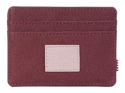 Herschel Supply Co. Charlie RFID (Plum/Ash Rose) Wallet Handbags