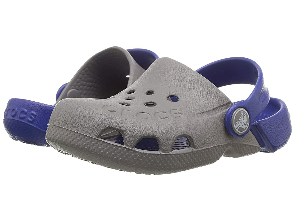 Crocs Kids Electro (Toddler/Little Kid) (Smoke/Cerulean Blue) Kids Shoes