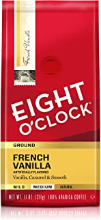 Eight O'Clock Ground Coffee, French Vanilla, 11 Ounce (Pack of 6)