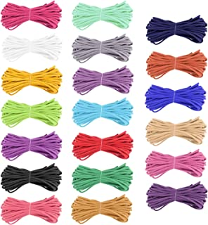 TUPARKA 100 Yards Velvet Cord Faux Suede Cord Faux Leather Cord String Rope Thread for Jewelry Necklace Bracelet Beading DIY Crafts(20 Colors)