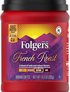 Folgers French Roast Coffee, 10.3 Ounce, Packaging May Vary
