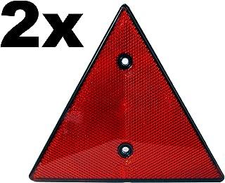 Rote Dreieck Rückstrahler x2   Reflektor   2 Stück