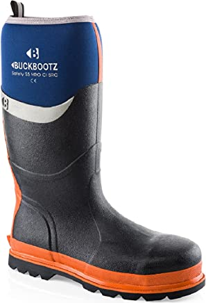 Buckler Buckbootz BBZ6000BL Blue Wellington Neoprene Rubber Safety Wellies for Men | UK Sizes 5-13 : boots
