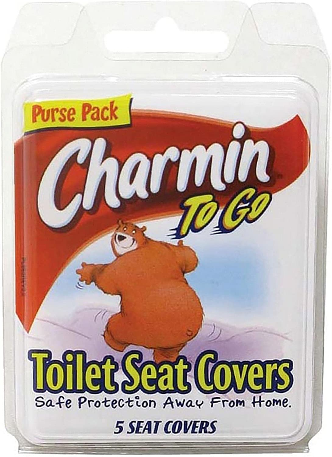 Charmin to Go Toilet Over item handling ☆ Seat of Pack 5 Covers Tissue service