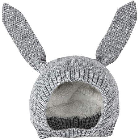 CHIC-CHIC Baby Strickm/ütze S/äugling Beanie Schleife Kappe Hut Turban W/ärmer Elastisch Strick Kopfband