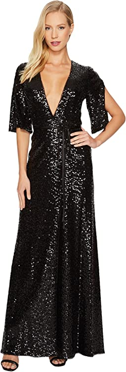 Aidan Mattox - Sequin Wrap Gown