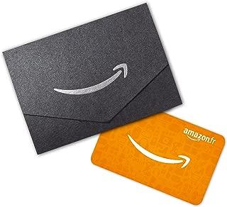 Carte cadeau Amazon.fr dans une petite enveloppe noire