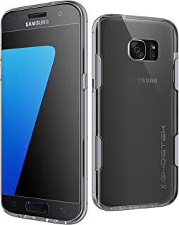 Ghostek S7 Edge Case, Cloak Series for Samsung Galaxy S7 Edge Slim Protective Armor Case Cover | Explosion-Proof Screen Protector | Aluminum Frame | TPU Shell Exchange (Silver)