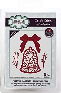 Creative Expressions CED3131 Festive Craft Dies by Sue Wilson, Christmas Bell