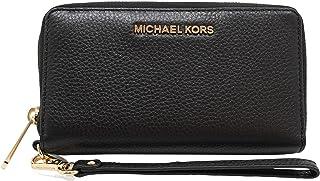 Michael Kors Jet Set Travel Large Flat Multifunción Teléfono Case Wristlet Pebble Cuero