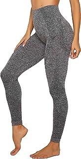 leggings damen grau INSTINNCT Damen Yoga Lange Leggings Slim Fit Fitnesshose Sporthosen