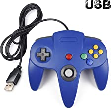 iNNEXT Classic Retro N64 Bit USB Wired Controller for Windows PC MAC Linux Raspberry Pi 3 (Blue)