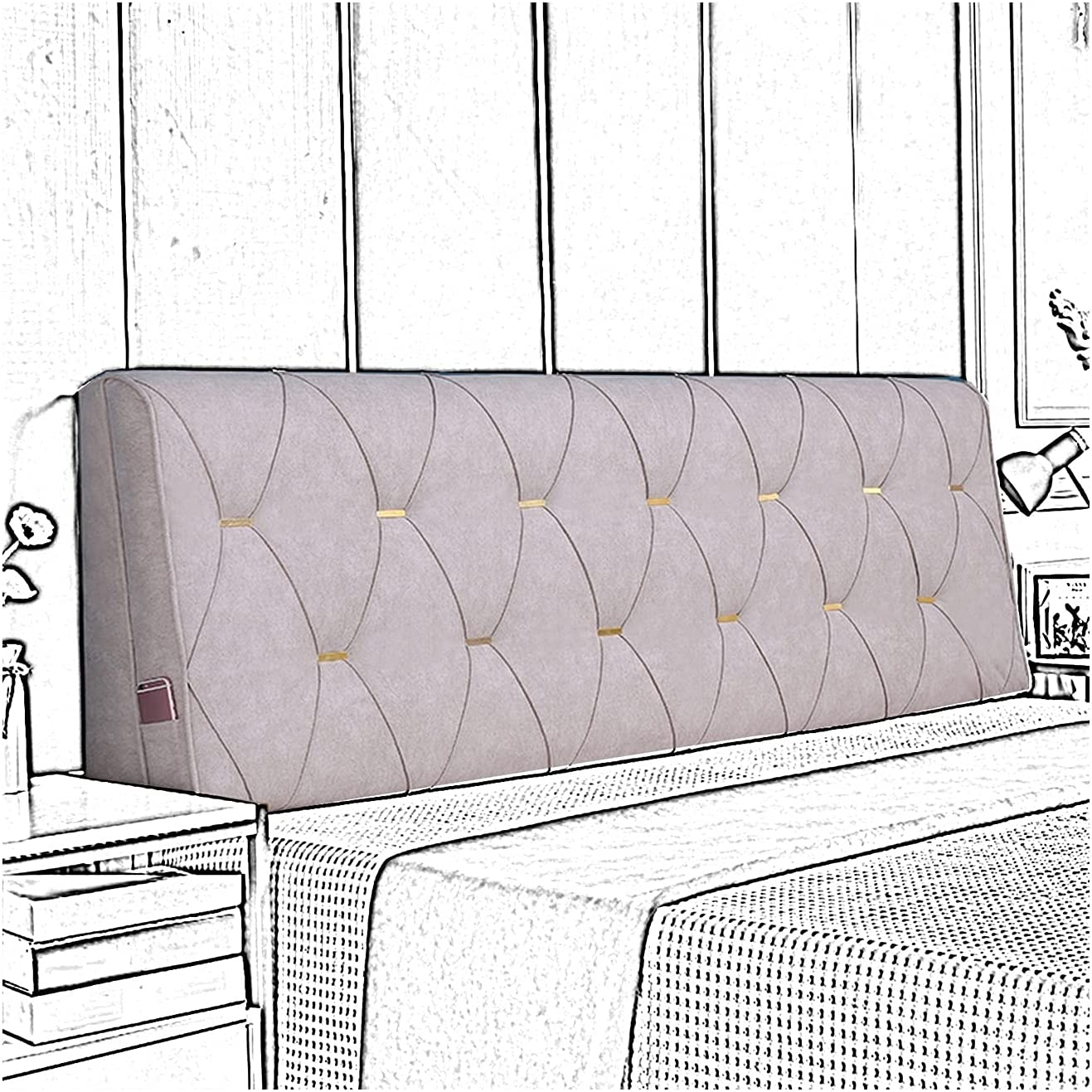 Genuine Free Shipping LIANGJUN Headboard Some reservation Bed Backrest Cushion Soft Anti-Collision Saf