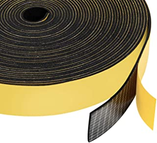 Neoprene Rubber Foam Tape 1 Inch Wide x 1/16 Inch Thick, Adhesive High Density Close Cell Foam Strips Gasket for Door Insu...