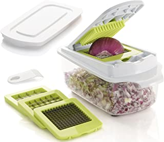 Brieftons QuickPush Food Chopper: Strongest & 200% More Container Capacity, 30%..