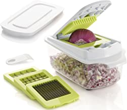 Brieftons QuickPush Food Chopper: Strongest & 200% More Container Capacity, 30% Heavier Duty, Onion Chopper, Kitchen Veget...