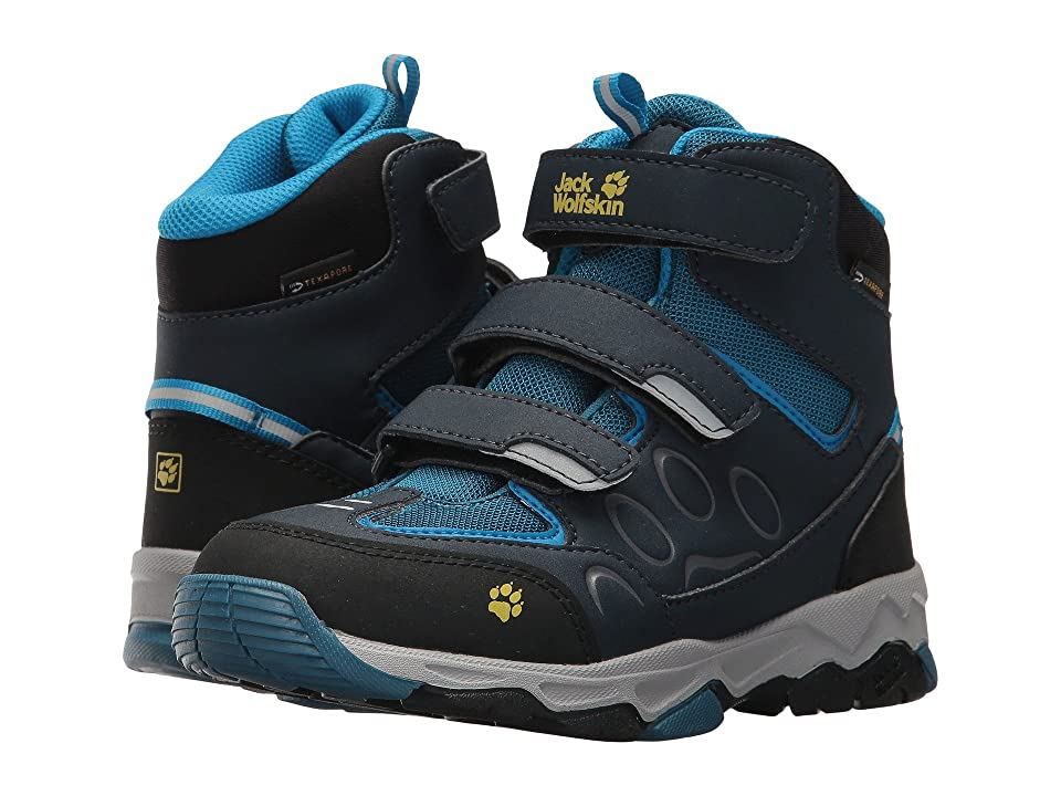 Jack Wolfskin Kids Mountain Attack 2 Waterproof Mid VC (Toddler/Little Kid/Big Kid) (Glacier Blue) Kids Shoes