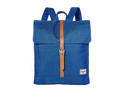 Herschel Supply Co. City Mid-Volume (Monaco Blue Crosshatch) Backpack Bags