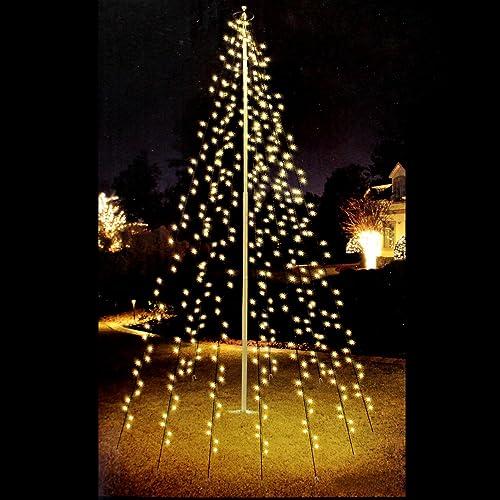 Lichterkette Weihnachtsbaum Außen.Außen Weihnachtsbaumbeleuchtung Amazon De