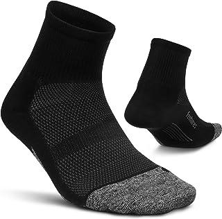 comprar comparacion Feetures - Elite Light Cushion - Quarter - Calcetines deportivos para correr para hombres y mujeres