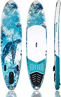 """AQUBONA Inflatable Stand Up Paddle Board (6"""" Thick & 4.75"""" Thick) W Free Premium SUP Accessories & with Wheels Backpack, F..."""