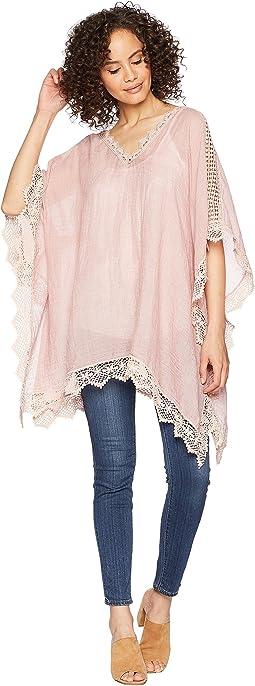Mixed Lace Poncho