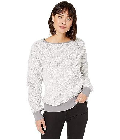 Dylan by True Grit Frosty Tipped Pile Cozy Sweatshirt (Heather) Women