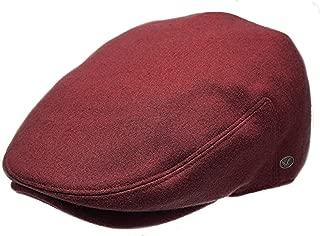 Classic Men's Flat Hat Wool Newsboy Herringbone Tweed Driving Cap