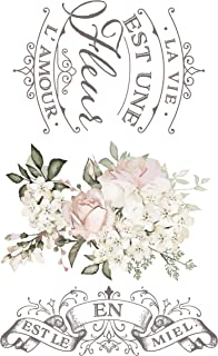 Prima Marketing 655350632878 La Vie Est Une Fleur Redesign Transfer, Mixed