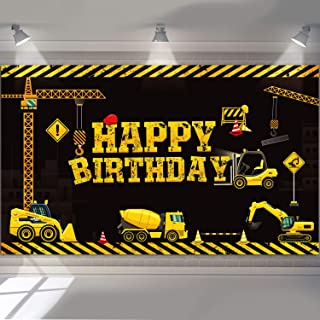 Construction Backdrop Dump Truck Birthday Background Boys Birthday Party Decoration Dump Truck Digger Zone Photo Booth Props