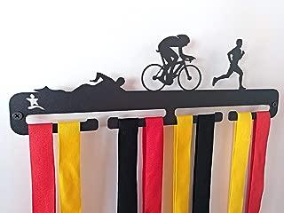 acero inoxidable Medallero colgador de triatl/ón