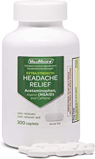 ValuMeds Extra Strength Headache Relief Caplets (300-Count) | Nonsteroidal Anti-Inflammatory Pain Reliever | Arthritis, Mu...