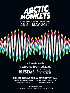 Kopoo Arctic Monkeys Poster - Concert Promo Tame Impala and Royal Blood, 12