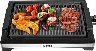 Gotoll Plancha Grill Électrique Antiadhésive 2000W, sans PFOA, 45x32x8cm, Barbecue Électrique avec Thermostat et Plateau à...
