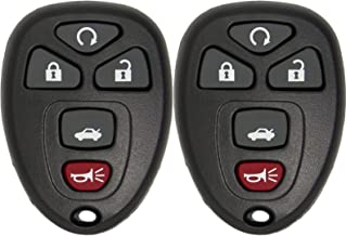 Keyless2Go Keyless Entry Car Key Replacement for Vehicles That Use 5 Button OUC60270 OUC60221, Self-programming - 2 Pack