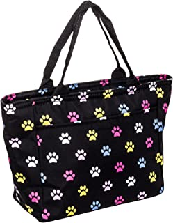 SilverHooks Womens Paws Insulated Lunch Tote Bag (Multicolor)