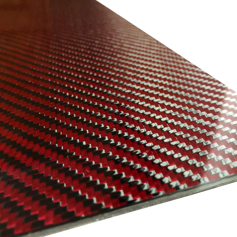 1 Red Max 46% OFF Carbon Regular dealer Fiber Plate - 100mm 250mm Thick 2mm 100% x -3