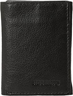 Smooth Leather RFID Blocking Trifold Wallet