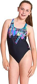 Zoggs Girls' Labrynth Rowleeback One Piece Swimsuit: Amazon